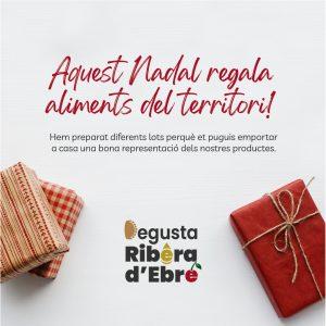 Cartell Aquest Nadal regala aliments de Ribera d'Ebre